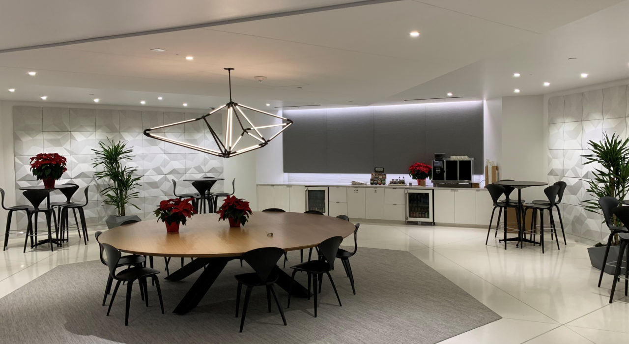 matrix sound absorbing wall tiles in dinning hall