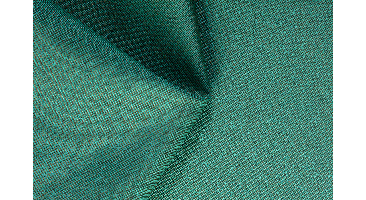 green textured upholstery textile creased