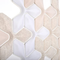 acoustic Ecoustic Foliar Pumice Base White Natural Cream Leaf tile felt textile