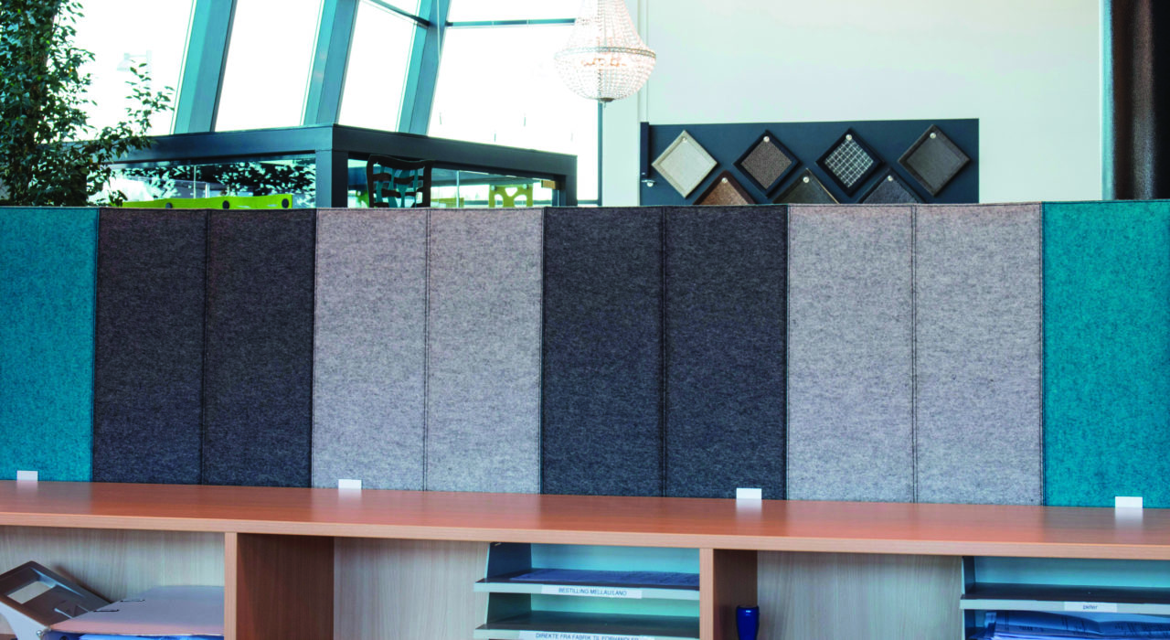 portable acoustic screen zigzag fixed shelf assorted colors sound absorption