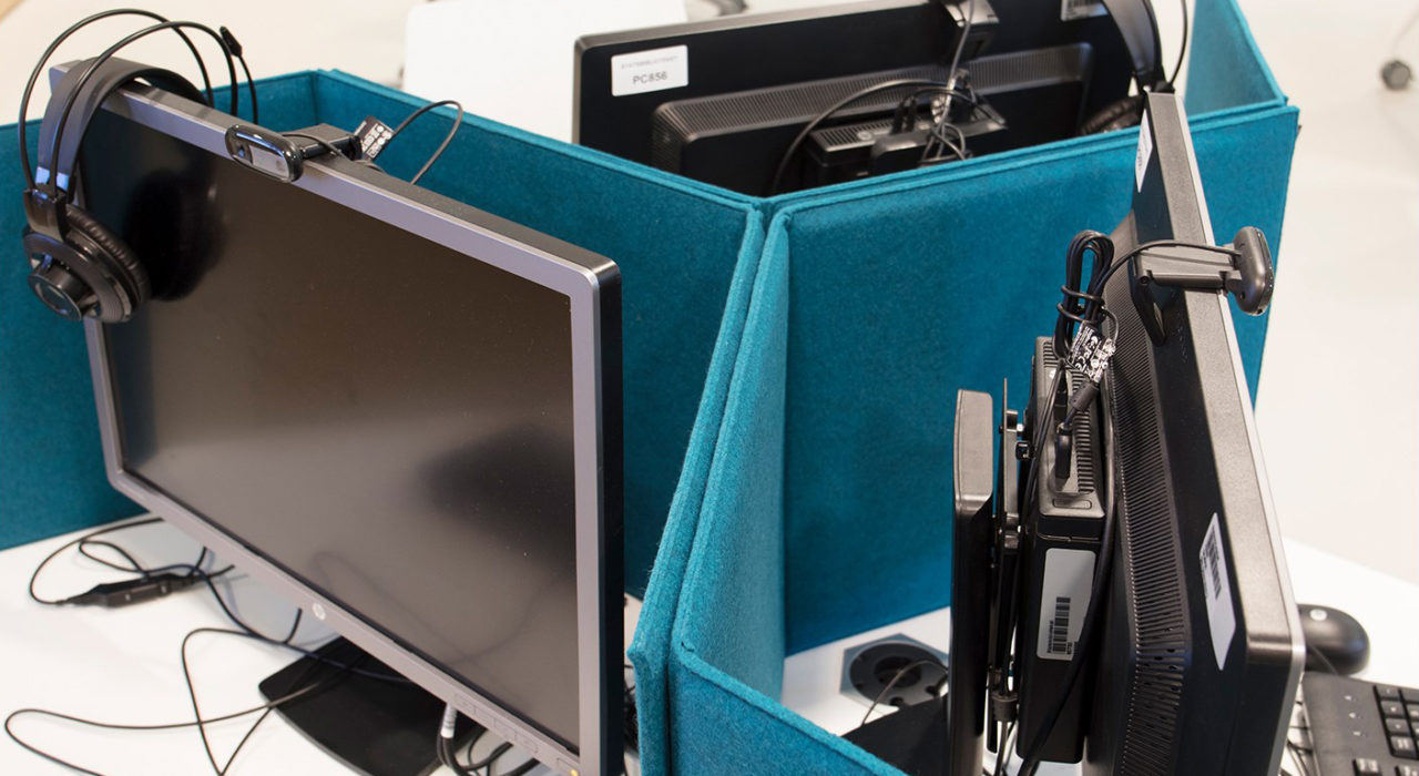 portable acoustic screen zigzag sound absorption in cadet moniters