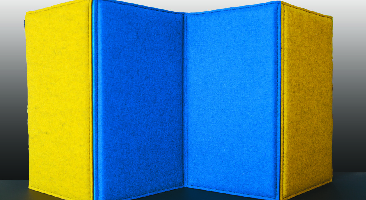 portable acoustic screen zigzag sound absorption enzian curry