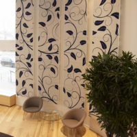 acoustic tile twister plus custom leaf pattern midnight off white plant