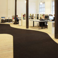 curved fraster felt runner in office setting