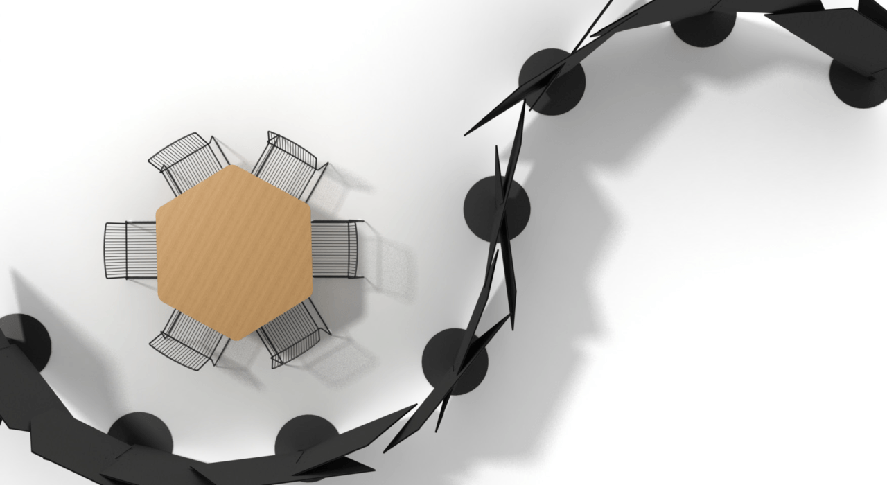 acoustic partition ecoustic intersect around table in galaxy sound absorption 2