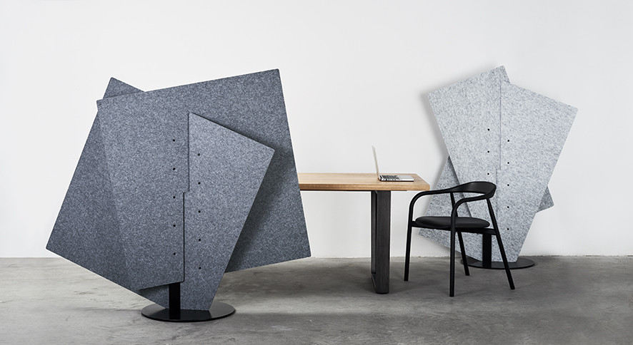 acoustic partition ecoustic intersect vertical profile around table chair in cool galaxy sound absorption