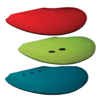 fraster red green blue felt seat pads