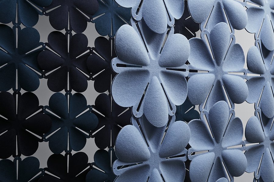 acoustic tile Airbloom blue dark sound absorbing