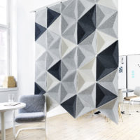 acoustic tile Aircone hanging grey black white floor sound absorbing