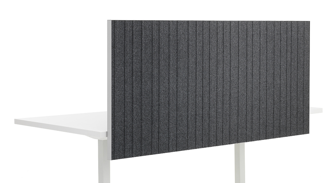 acoustic Alumi Screen grey black standing sound absorbing table top