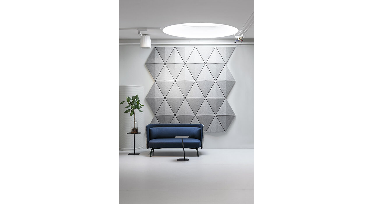 bits light grey acoustic wall tiles