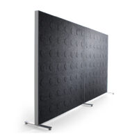 dark grey sound-absorbing floor screen