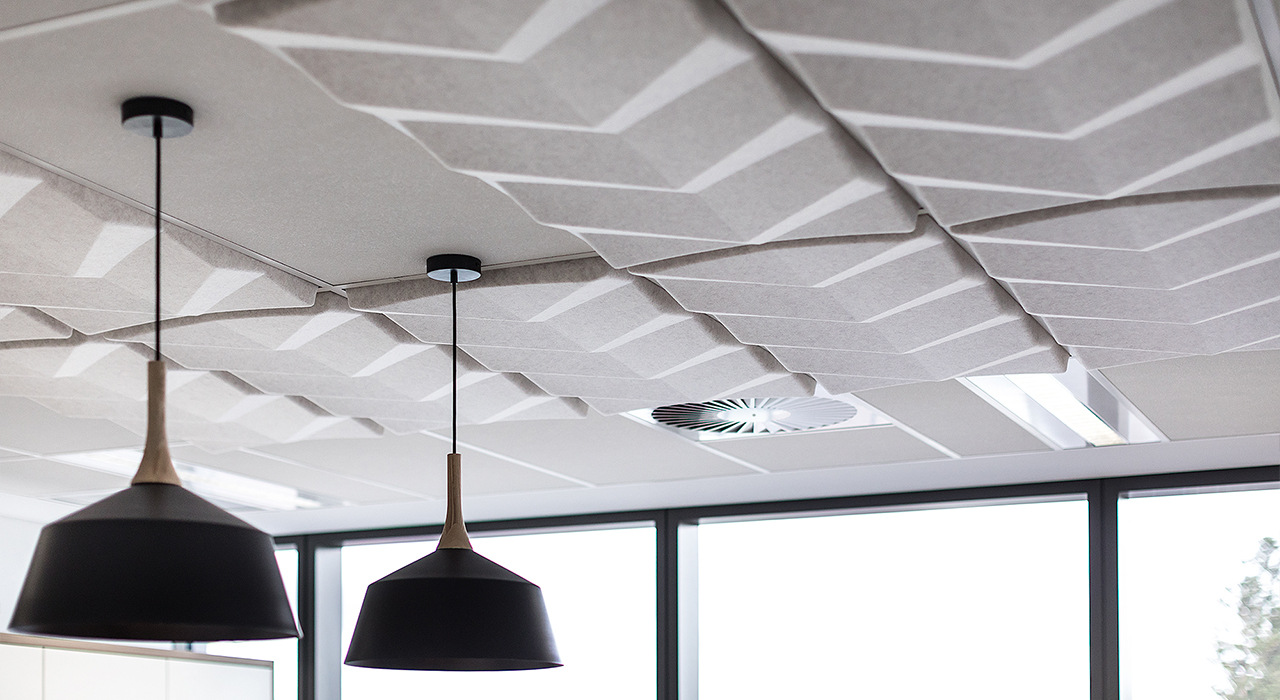 Ecoustic Torque ceiling tile sound absorbing close up
