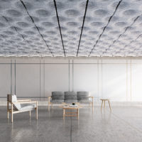 Sculpt Ridge sound absorbing ceiling system