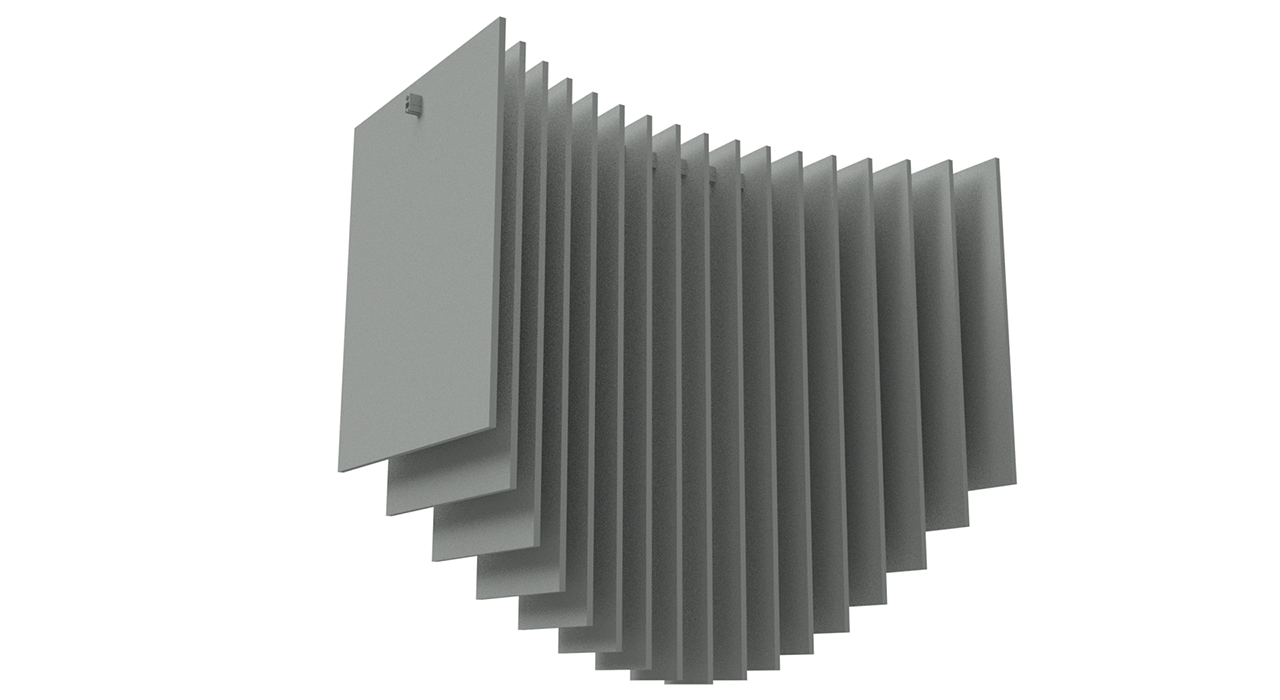 SkyBridge acoustic baffle collection rendering