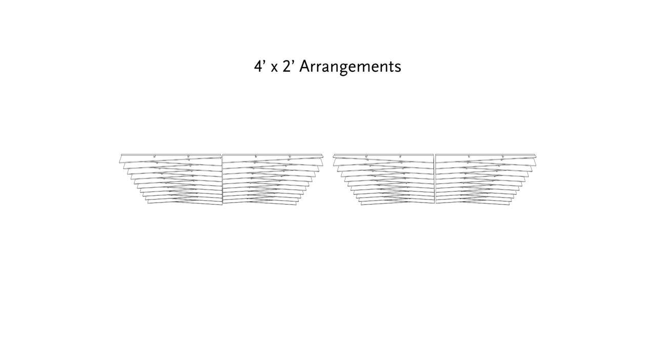 acoustic drop ceiling tile arrangements for two by four foot grids