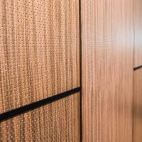 Ecoustic veneer Walnut perforated sound absorbing panel