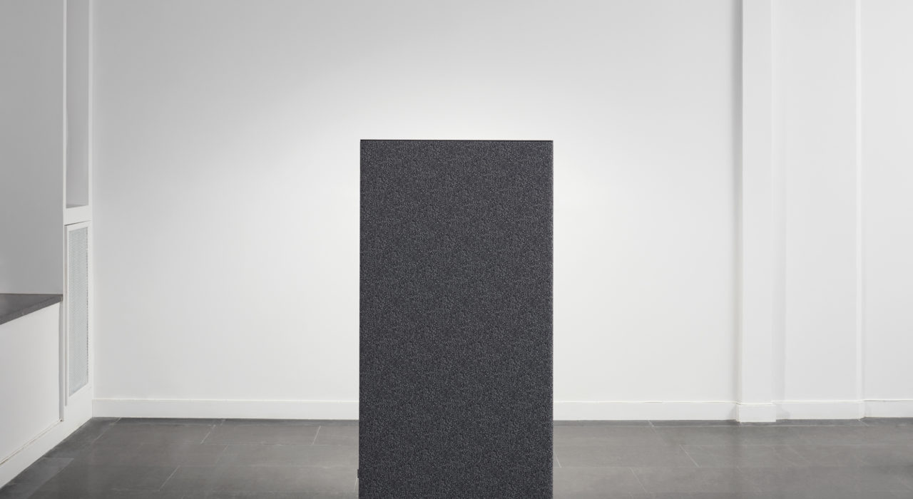 sound absorbing screen acoustic partition dB in charcoal displayed alone