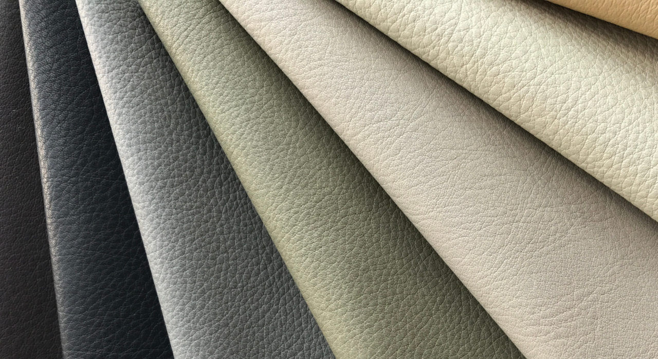 Tundra-leather-upholstery-displayed-dark to light folded over