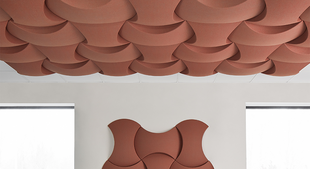 sky acoustic ceiling and wall tiles