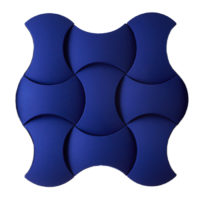 formation of blue acoustic panels