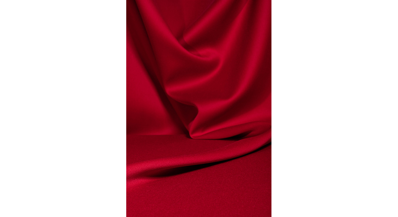 red upholstery textile bunched up softly 2