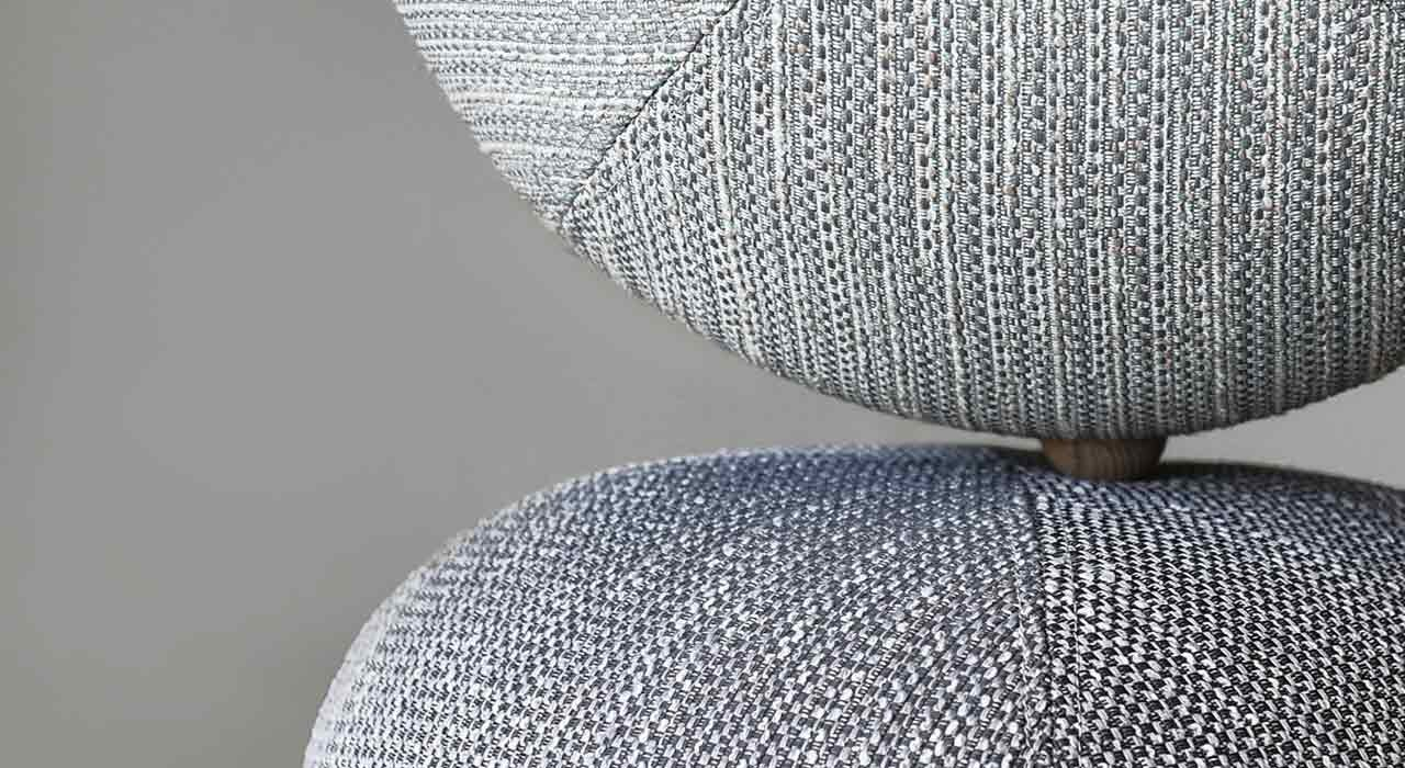 detail of upholstered seats