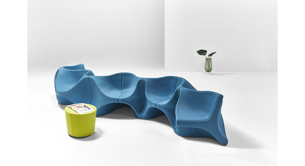 heartbeat sofa aqua view from above