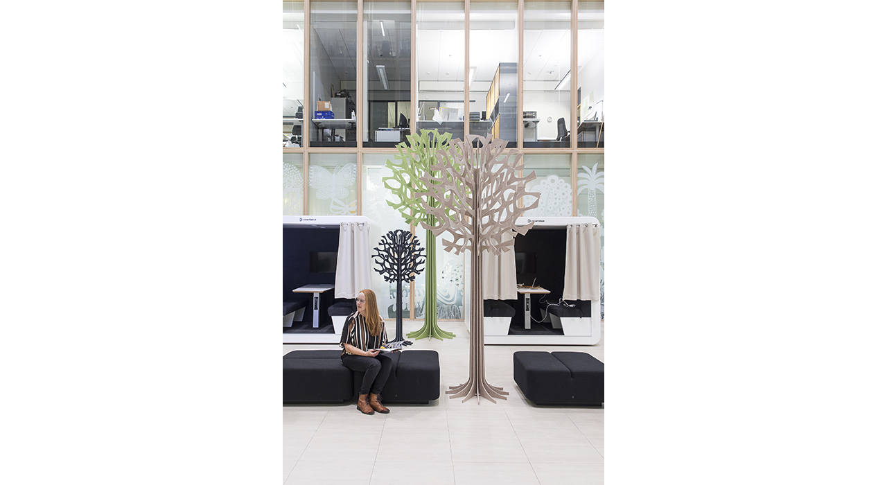 lovi acoustic tree colorful seating person sitting
