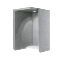 sound absorbent wall booth with light