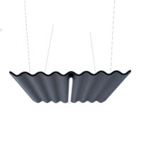 hanging ceiling tile charcoal colored