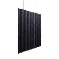 charcoal acoustic hanging screen with white background