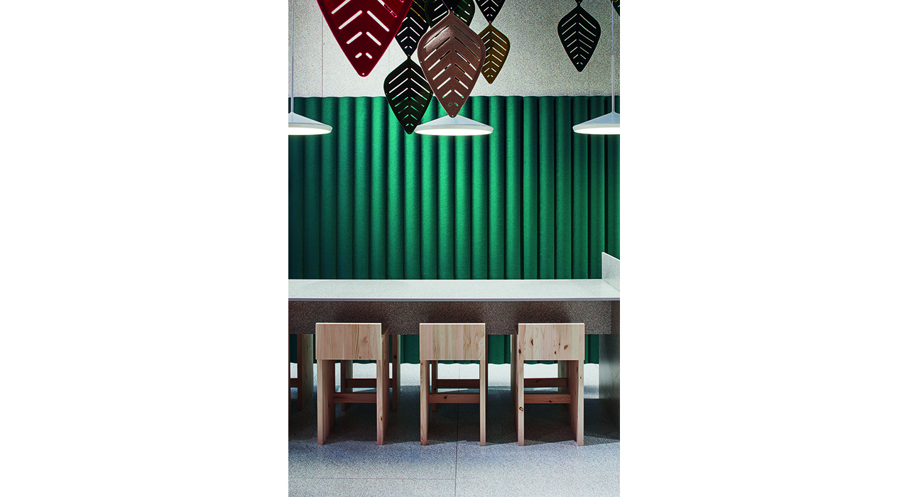 scala wall airleaf acoustic table seating