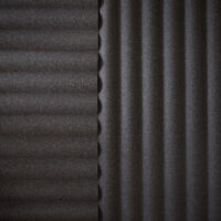 dark grey acoustic wall panel corrugated