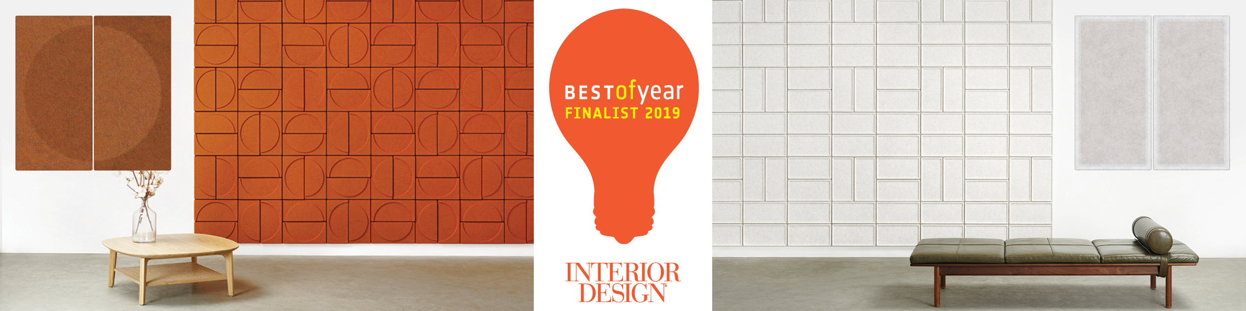 collage featuring acoustic tiles crescent and edge finalists for best of year award