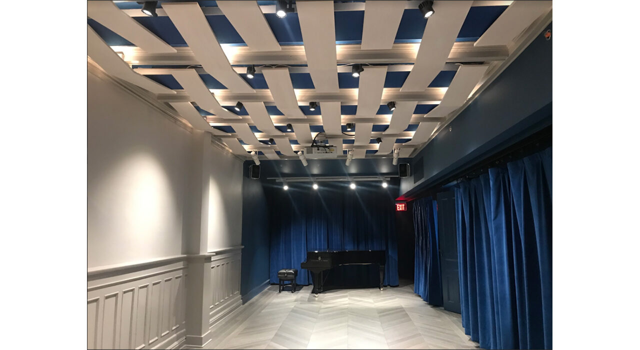 George to the rescue acoustic panel ceiling install