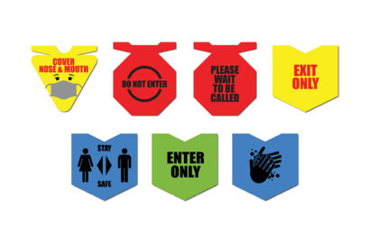 multi-colored safe business signage examples