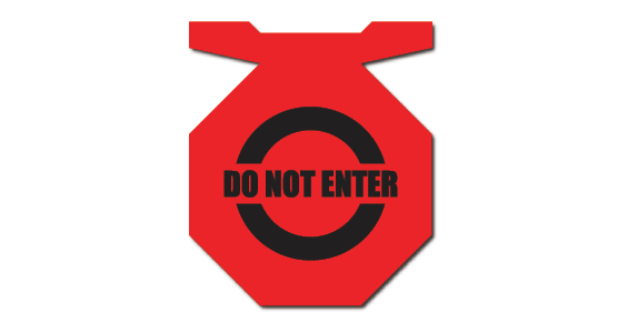 red sign do not enter