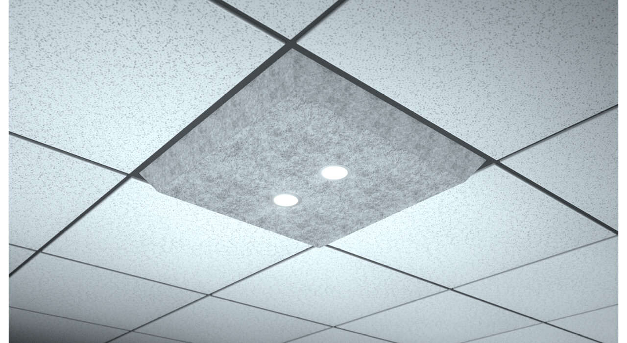 light grey lighted ceiling tile spot flood dual