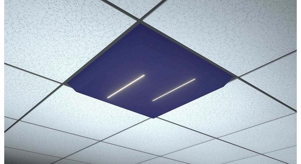 dark blue lighted tile lineal lines dual