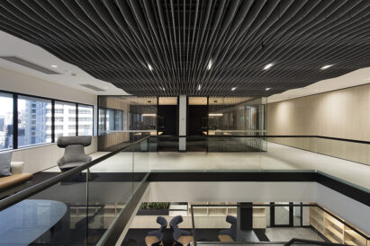 sculpt taper tungsten in office lobby
